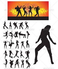Dancer Silhouette — Vector EPS #logo #silhouette • Available here → https://graphicriver.net/item/dancer-silhouette/3422248?ref=pxcr