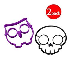 Cy3Lf Clearance Sale  Cy3Lf Silicone Egg Mold Ring Purple Owl Shaped Egg Ring  Black Skull Shaped Egg RingPACK OF 2 * Read more  at the image link. (This is an Amazon affiliate link and I receive a commission for the sales and I receive a commission for the sales)