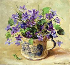 Violets by Anne Cotterill