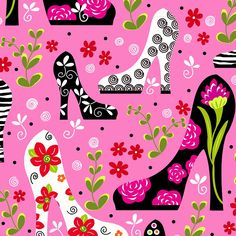Tippy Toes - Pink Floral Heels