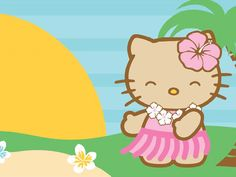 nancy d.'s blackberry themes: Hello Hula Summer Wallpapers