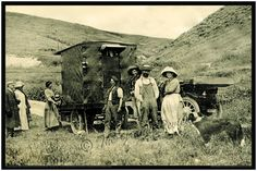 Very Early Antique Motor Home Print - 1911 El Camino Real California - Lost Highways Archive - Vintage Motorhome