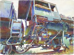 Engine 4436-Cab by Peter Jablokow, watercolor