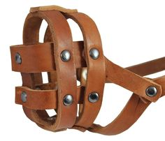 Real Leather Dog Basket Muzzle no.0 Tan - Spaniel, Poodle, Schnauzer (Circumference 8.5', Snout Length 2') *** Special dog product just for you. See it now! : Dog muzzle