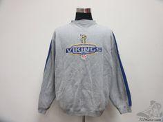 Vtg 90s Puma Minnesota Vikings Crewneck Sweatshirt sz by TCPKickz #tcpkickz