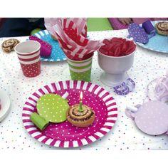 Colorati piatti di carta per feste rosa/rosso/viola