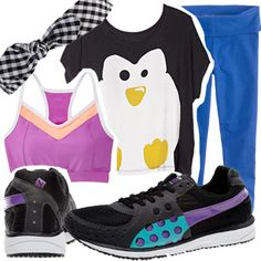 OMG I want these shoes & the penguin