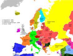 Gli Arcani Supremi (Vox clamantis in deserto - Gothian): Mappa: anno dell'ultima occupazione straniera dei ...