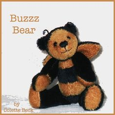 Digital Artist Bear pattern Buzzz Bear