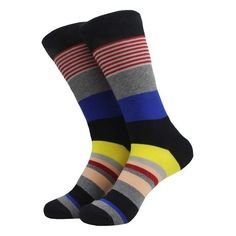 Muti-Color Half Stripe Colorful Socks, Office Attire, Stripes Fashion, Winter Collection, Latest Fashion, Your Style, Female, Men, Collections