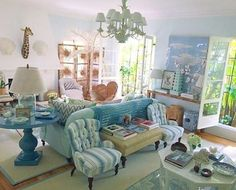 I know I'm late to this party, but Rebecca de Ravenel's LA living room is a turquoise, Bahamian flavored dream!  #lonnymag #tradisrad #tropicalstyle