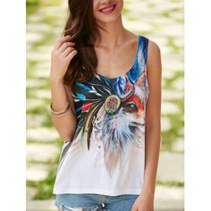 SHARE & Get it FREE | Fox Printed U Neck Tank TopFor Fashion Lovers only:80,000+ Items·FREE SHIPPING Join Dresslily: Get YOUR $50 NOW!