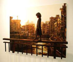 Shintaro Ohata / ''walking'' (painting, polystyrene based sculpture)