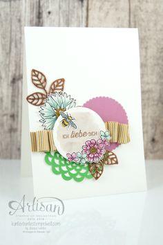 Stampin´ Up! - Artisan Design Team - Thinlits Blütenpoesie- Blühende Worte - Touches Of Texture - Umschlagpapier - 12