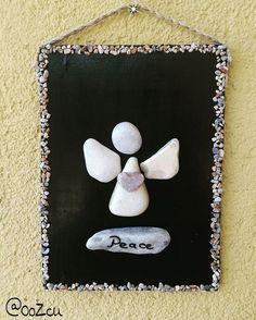 Herkesi koruyan bir melek vardır..Angel of peace #angel #melek #hediyelik #tasboyamasanati #tasboyama #handmade #elsanati #elemegi #stonepaintingart #stoneart @10marifet