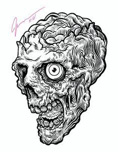 3e458d3c2d9 Skull Illustration, Lowbrow Art, Skull And Bones, Skull Art, Various  Artists,