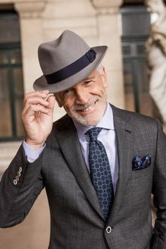 Masters Jean Marie, Men With Grey Hair, Worlds Of Fun, Mannequins, Male Models, Panama Hat, Most Beautiful, Handsome, Mens Fashion
