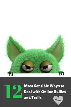 12 Most Sensible Ways to Deal with Online Bullies and Trolls http://12most.com/2012/10/09/12-ways-deal-online-bullies-trolls/