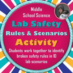 Fun activity for middle school science students to practice lab safety rules