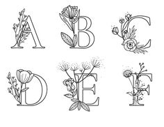 letters in nature alphabet * letters in nature ` letters in nature alphabet Hand Lettering Alphabet, Alphabet Art, Pretty Fonts Alphabet, Hand Embroidery Patterns Flowers, Hand Embroidery Designs, Embroidery Letters, Embroidery Jewelry, Nature Letters, Flower Letters