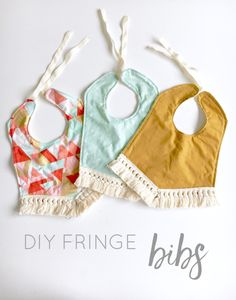 This is such a cheap DIY and so cute! Don't spend all that money on Etsy, make these fringe bibs yourself!
