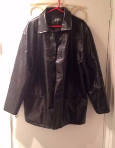 6eab8015 MODA ITALY New BOSS collection BLACK LEATHER JACKET Size L