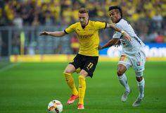 Eine Szene aus dem Europa-League-Qualifikationsrückspiel BVB gegen Wolfsberger AC.