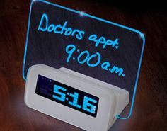 This Illuminated Dry Erase Alarm Clock is Both Geeky and Cool