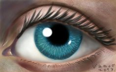 Speed Drawing a Realistic Eye, Speed Drawing on a Mobile Phone