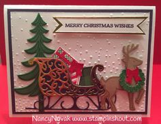 You can make this card. Santa's sleigh. It's easy with Stampin Up products. Visit my blog for more details