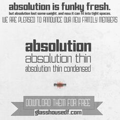 Check out Absolution Family Bundle Deal by GlasshouseDF on Creative Market