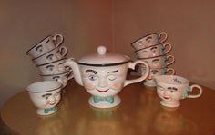 BAILEYS' IRISH CREAM TEAPOT RARE LIMITED EDITION winking mugs sugar creamer set #BaileysIrishCream