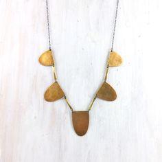 fail: Arc Collar Necklace, in Brass #MarthaStewartAmericanMade #Collar