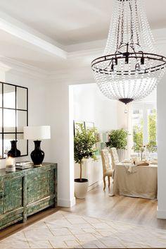 Unique furniture pieces add texture and depth Hallway Decorating, Entryway Decor, Diy Bedroom Decor, Living Room Decor, Home Decor, Unique Furniture, Home Furniture, Dining Room Walls, Small Room Bedroom