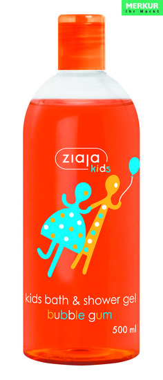 Das Bade- und Duschgel für Kinder mit Bubblegum-Duft ist neben den weiteren Düften, wie COLA oder COOKIES & VANILLE EIS jetzt auch bei MERKUR: www.merkurmarkt.at oder im BIPA Onlineshop erhältlich: http://www.bipa.at/suche?q=ziaja