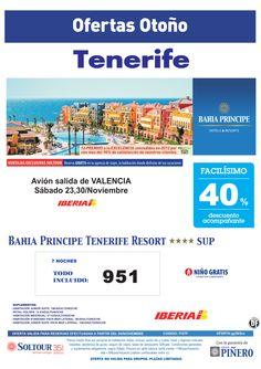 Tenerife, 40% Bahía Príncipe Tenerife Resort, salidas 23 y 30 Noviembre desde Valencia - http://zocotours.com/tenerife-40-bahia-principe-tenerife-resort-salidas-23-y-30-noviembre-desde-valencia/
