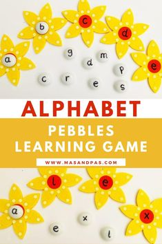 Learn how to create alphabet pebbles for an easy and hands-on letter recognition activity that is perfect for toddlers or preschool students. Grab any type of pebble or small object, a sharpie, some stickers, or baking cups, and you're all set for this play-based ABC activity! #letterrecognition #preschoolactivities #activitiesfortoddlers #alphabetactivites