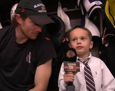 Joey, a 5-year-old kid reporter for Blackhawks TV, may give professional reporters some competition covering the National Hockey League. Recently, he hit the beat looking for answers for Blackhawks TV on NHL.com. Joey asked some Blackhawks stars. Is it sad that I am jealous of a 5 year old kid?!