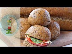 Ψωμί ολικής άλεσης (Whole-wheat bread) - YouTube Hamburger, Bread, Chicken, Ethnic Recipes, Youtube, Desserts, Food, Deserts, Dessert