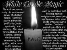 White Candle Magick – Witches Of The Craft® Magick Spells, Candle Spells, Healing Spells, Wiccan Witch, Under Your Spell, Spiritual Power, Spiritual Enlightenment, Color Magic, Candle Magic