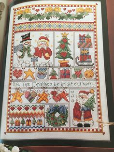 A Cross-Stitch Christmas: Heartfelt Holidays Better Homes and Gardens 1999 ISBN: 0-696-20958-6 Full color charts Contents include: - Roses Box (34Hx46W) - Angel with Mandolin (139Hx169W) - Striped Ornament Jar (39Hx40W) - Poinsettia Wreath (86Hx86W) - Partridge Wreath (94Hx86W) -