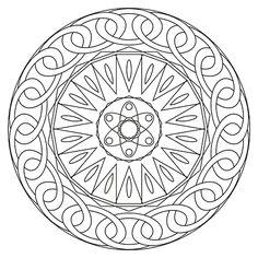 Mandalas para colorear varios modelos / Free coloring mandalas