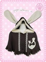 Heart Chocolate Rabbit Cape / See more at http://www.cdjapan.co.jp/apparel/new_arrival.html?brand=MAM #lolita fashion