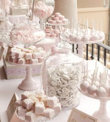 Pretty in pink ideas for a dessert table...