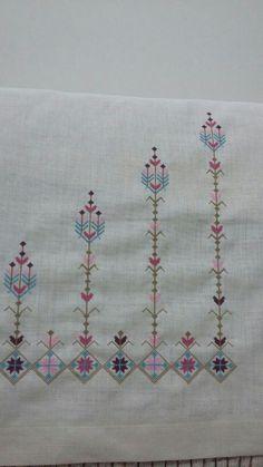 Embroidery On Kurtis, Kurti Embroidery Design, Cross Stitching, Cross Stitch Embroidery, Cross Stitch Designs, Cross Stitch Patterns, Bargello Needlepoint, Dress Design Sketches, Palestinian Embroidery