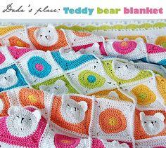 Orsacchiotto uncinetto coperta Baby - unico & carino, 100% cotone