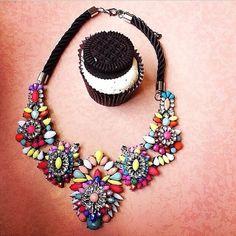 Bright Shourouk necklace Summer 2014