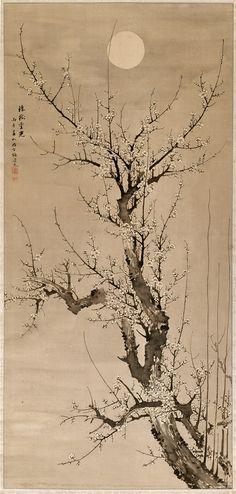 oto ©2014, Detroit Institute of Arts Date1846MediumInk on silkDimensions image: 66 1/4 x 31 1/4 in. (168.3 x 79.4 cm) overall scroll inclu...