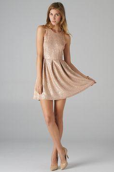 Lavishville - Foiled Textured Fit and Flare Dress (Gold), $40.50 (http://www.lavishville.com/foiled-textured-fit-and-flare-dress-gold/)
