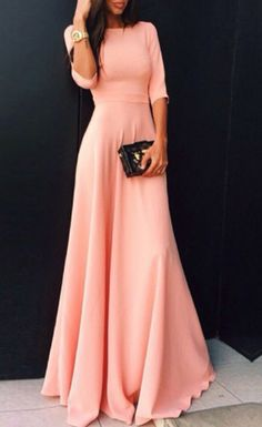 pink maxi dress 2016 fashion trends